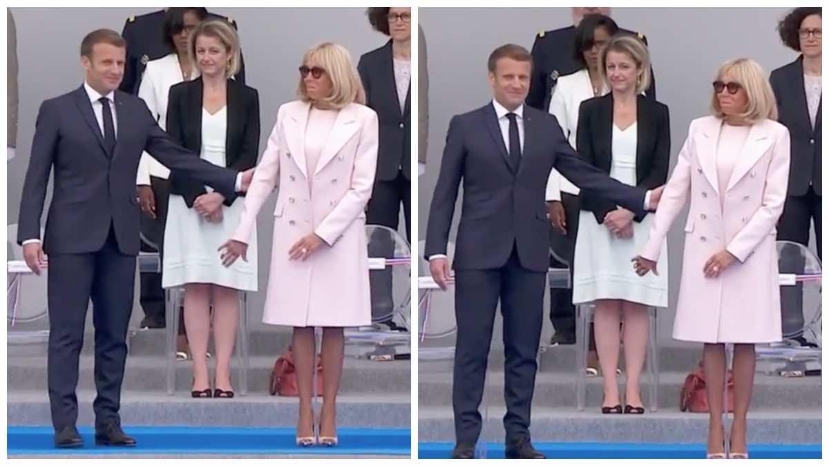Brigitte et Emmanuel Macron : ce petit geste d'attention qui tourne au fiasco lors de la cérémonie du 14 juillet.