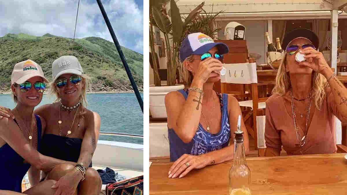 Laeticia Hallyday : arrivée à Saint-Barthélemy pour les vacances elle s'est complètement laissée aller avec une amie…