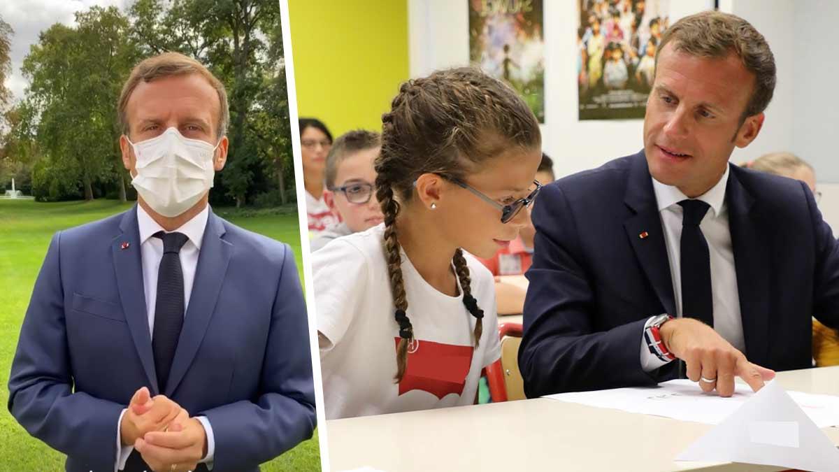 Emmanuel Macron chahuté pour une faute de français très grave lors de son allocution pour la reprise des classes.