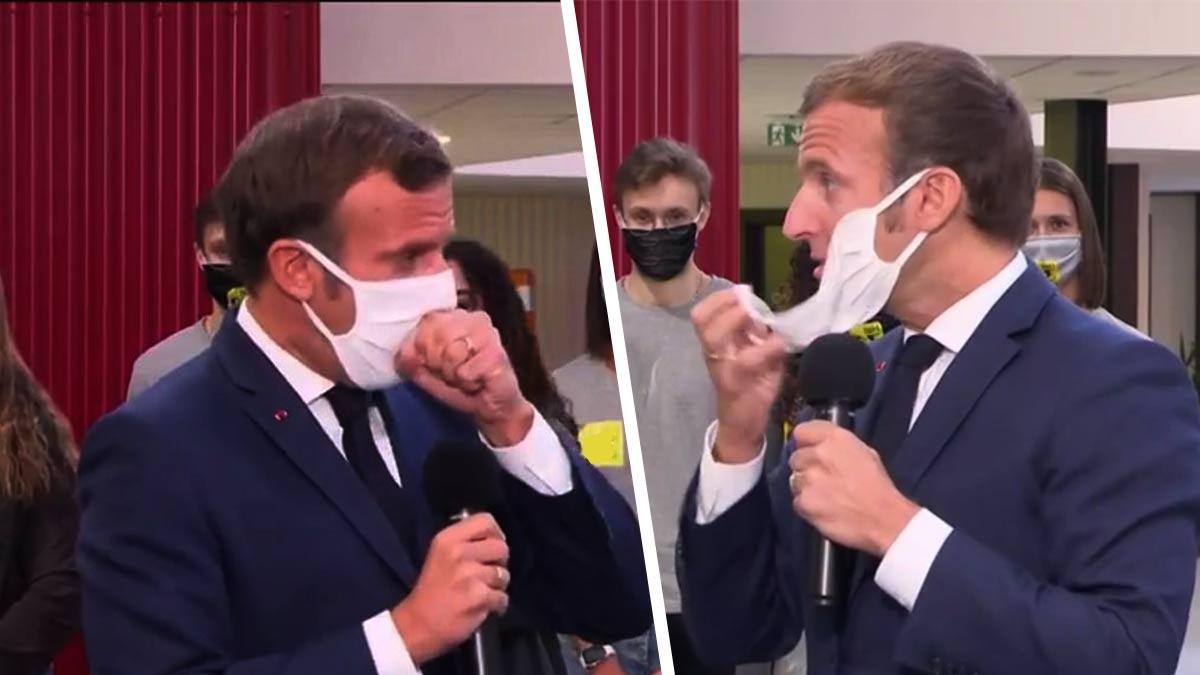 Emmanuel Macron s'étrangle en public, les internautes s'en moquent complètement!